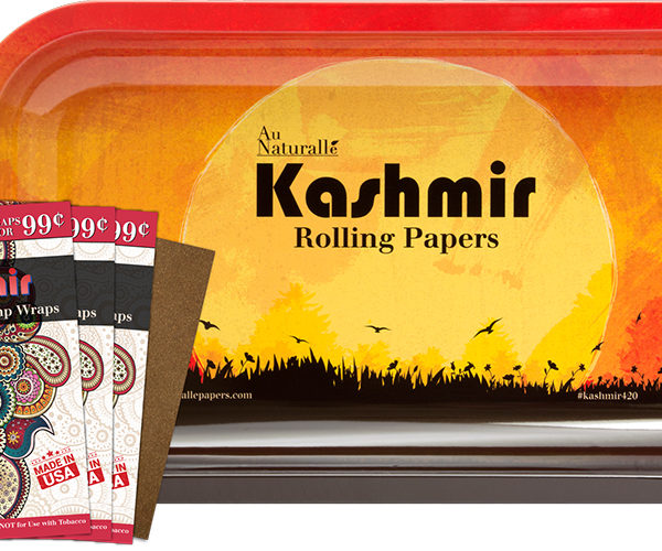 Kashmir Rolling Tray and Hemp Wrap Bundle